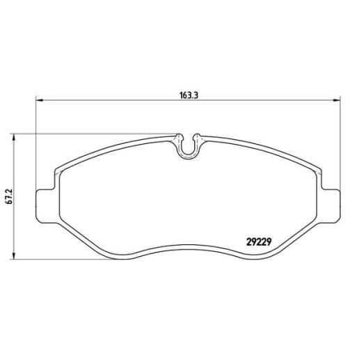 BREMBO Brake Pad Set, disc brake P A6 026