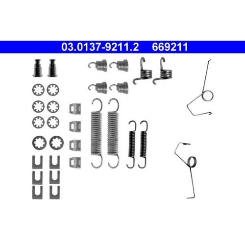 Zubehörsatz, Bremsbacken ATE 03.0137-9211.2 RENAULT