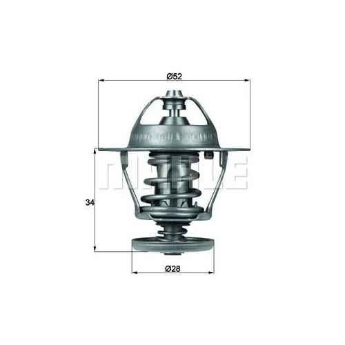 BEHR THERMOT-TRONIK Thermostat, Kühlmittel TX 68 88D