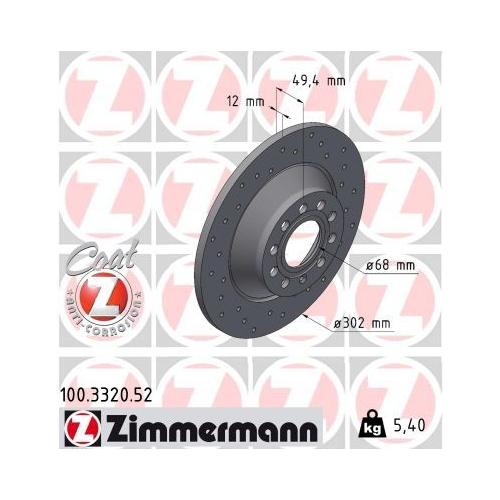 ZIMMERMANN Brake Disc 100.3320.52