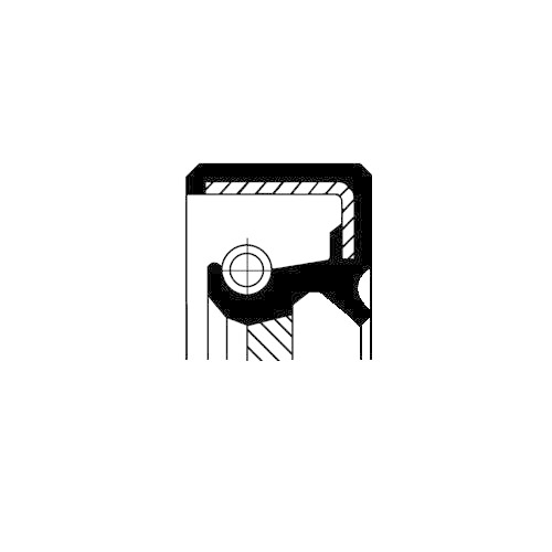 CORTECO Shaft Seal, crankshaft 19027858B
