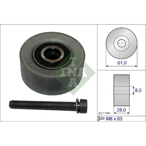 INA Deflection/Guide Pulley, timing belt 532 0472 10