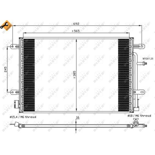 Condenser, air conditioning NRF 35560 EASY FIT AUDI SEAT