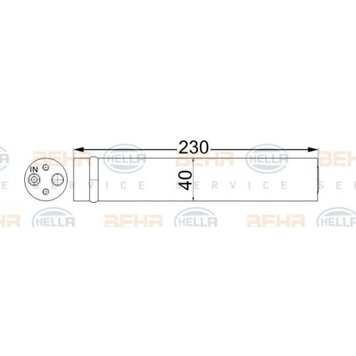 Dryer, air conditioning HELLA 8FT 351 192-664 HONDA MAZDA
