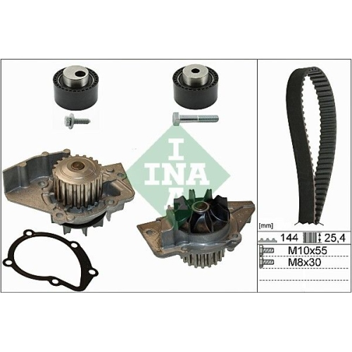 Water Pump & Timing Belt Set INA 530 0235 30 CITROËN FIAT LANCIA PEUGEOT