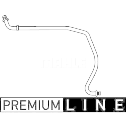 High-/Low Pressure Line, air conditioning MAHLE AP 77 000P FORD