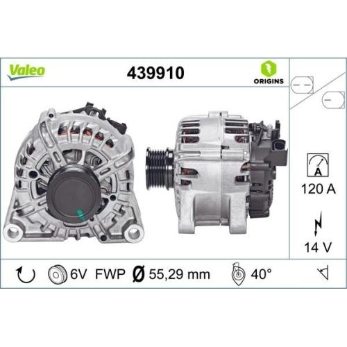 Alternator VALEO 439910 VALEO ORIGINS NEW FORD