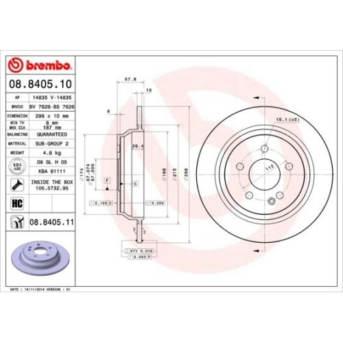 BREMBO Brake Disc 08.8405.11