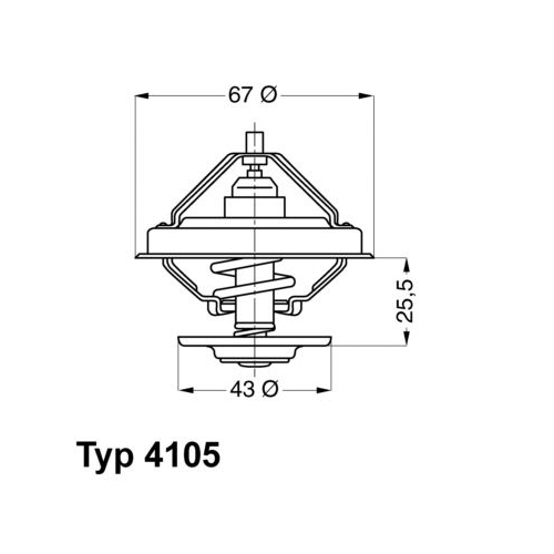WAHLER Thermostat 4105.71D