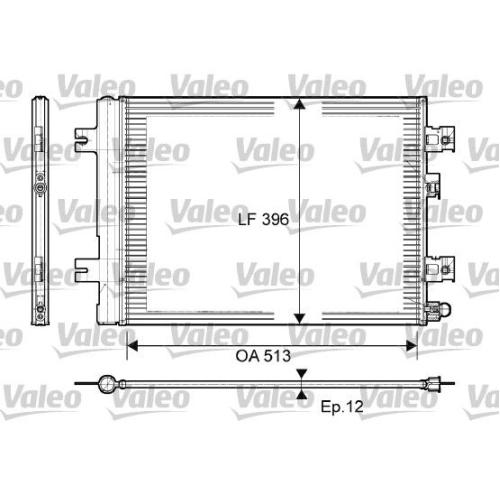 Condenser, air conditioning VALEO 814077 LADA RENAULT DACIA