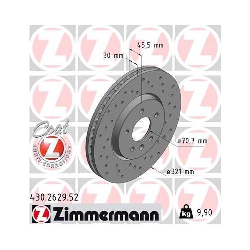 ZIMMERMANN Brake Disc 430.2629.52