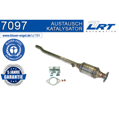 """Katalysator LRT 7097 ausgezeichnet mit """"Der Blaue Engel"""" AUDI SKODA VW"""