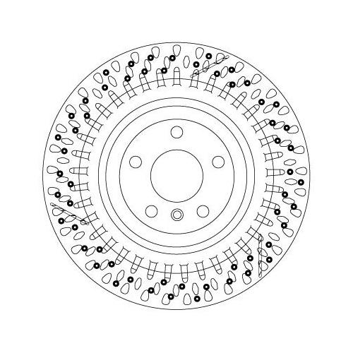 Brake Disc TRW DF6835S MERCEDES-BENZ
