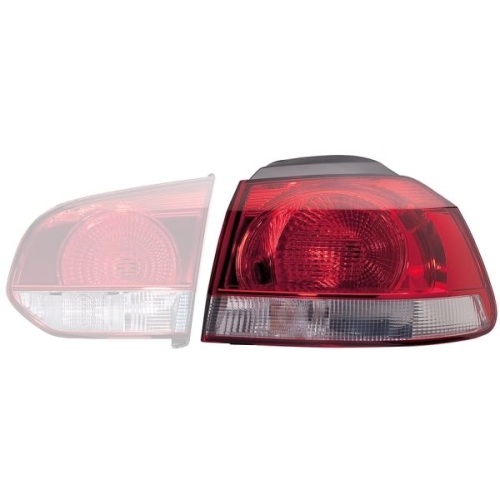 Combination Rearlight HELLA 2SD 009 922-091 VW