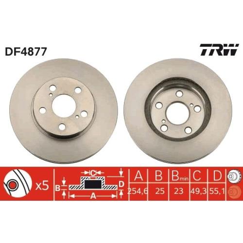 TRW Brake Disc DF4877