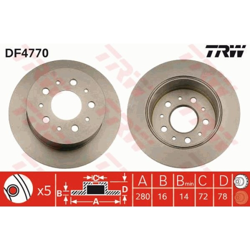 TRW Brake Disc DF4770