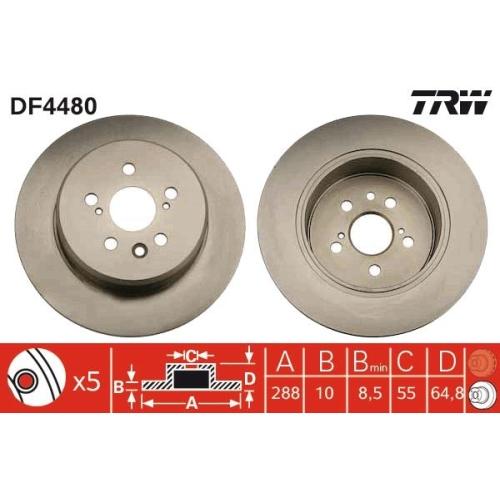 TRW Brake Disc DF4480
