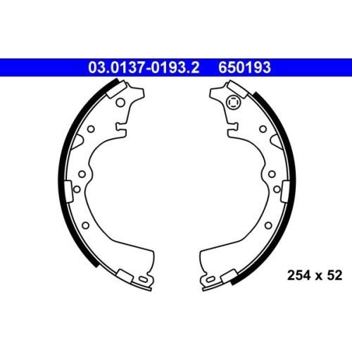 Brake Shoe Set ATE 03.0137-0193.2 TOYOTA