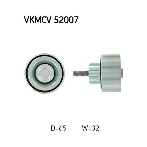 SKF Umlenk-/Führungsrolle, Keilrippenriemen VKMCV 52007