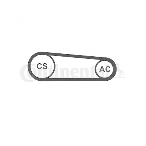 Keilrippenriemensatz CONTINENTAL CTAM 4PK917 ELAST T1 FIAT