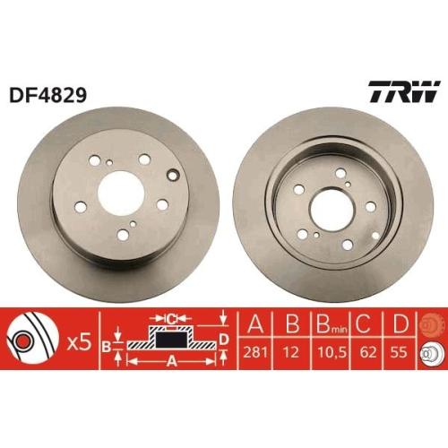 TRW Brake Disc DF4829