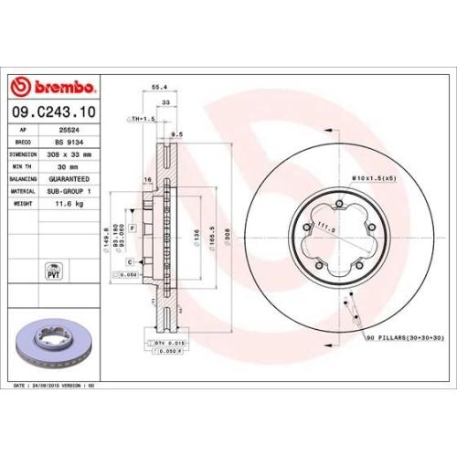 BREMBO Brake Disc 09.C243.10