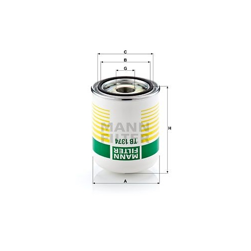 Air Dryer Cartridge, compressed-air system MANN-FILTER TB 1374 x DAF FORD IVECO