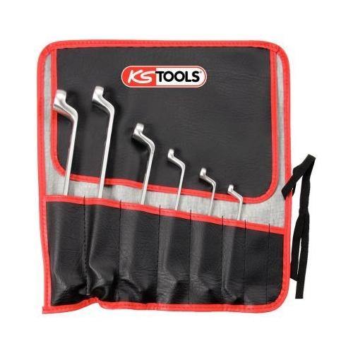 KS TOOLS CLASSIC Double ring spanner set for Torx E profile, offset, 6 pcs 911.0360