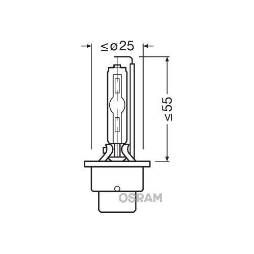 Glühlampe Glühbirne OSRAM D2S 35W/85V Sockelausführung: P32d-2 (66240XNL)