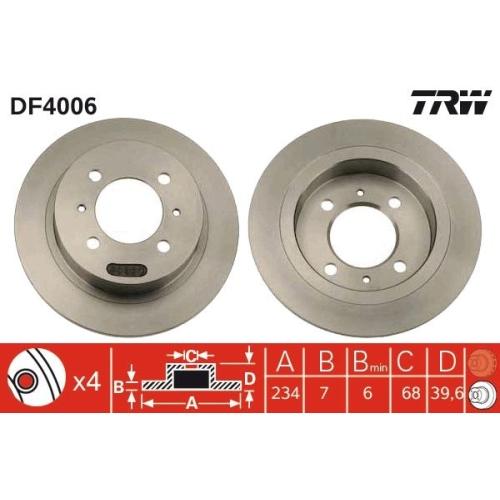 TRW Brake Disc DF4006