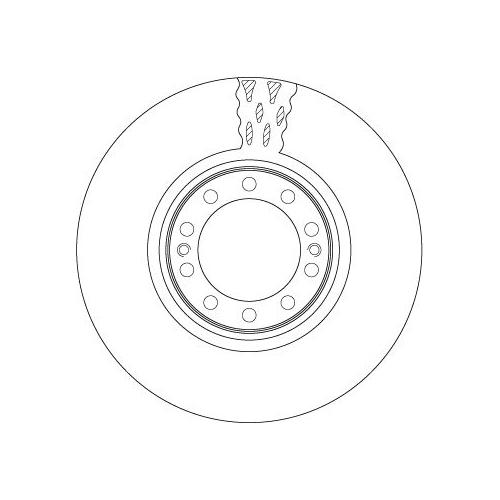 Brake Disc TRW DF5087S VOLVO RENAULT TRUCKS