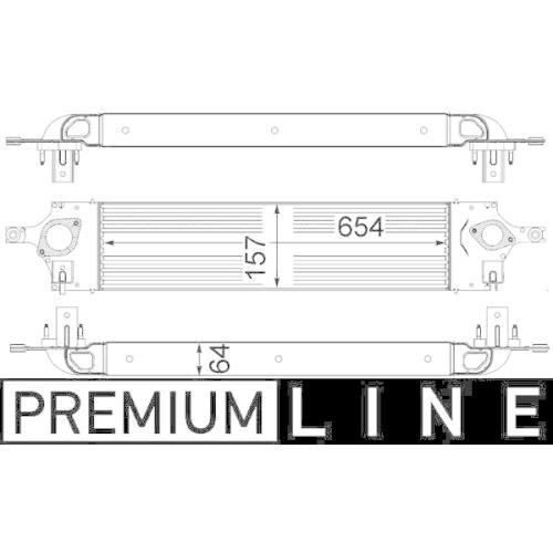 Ladeluftkühler MAHLE CI 319 000P BEHR *** PREMIUM LINE *** NISSAN