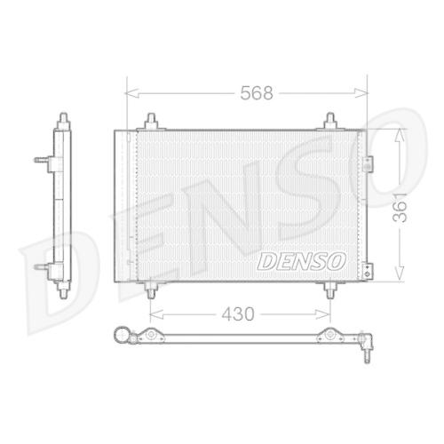 DENSO Kondensator, Klimaanlage DCN07008