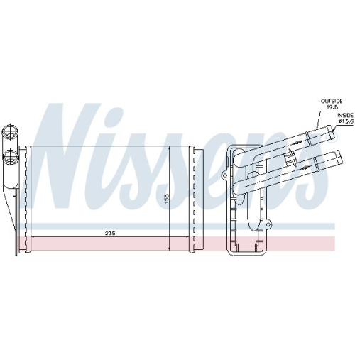 Heat Exchanger, interior heating NISSENS 70224 AUDI SKODA VW