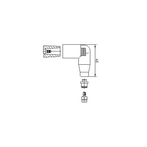 Stecker, Zündspule BREMI 13552A1 VW