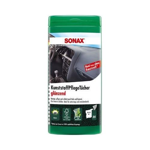 SONAX Kunststoffpflegetücher glänzend Box mit 25 Stück 04121000
