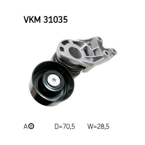 Spannrolle, Keilrippenriemen SKF VKM 31035 AUDI SEAT SKODA VW