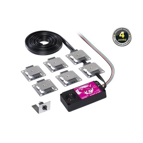 STOP&GO Marderschutz 6 PLUS-MINUS Hochspannungsgerät mit Ultraschall 07506
