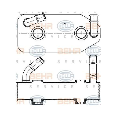 Ölkühler, Automatikgetriebe HELLA 8MO 376 787-681 AUDI SEAT SKODA VW