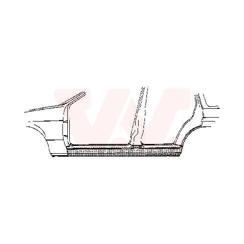 Foot Board, door sill VAN WEZEL 3712103