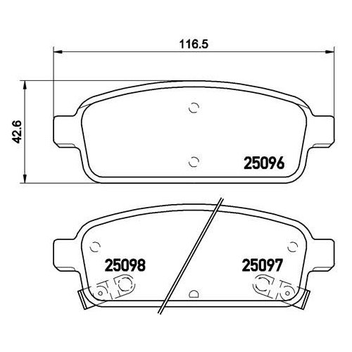 Brake Pad Set, disc brake BREMBO P 59 080 OPEL VAUXHALL CHEVROLET GENERAL MOTORS