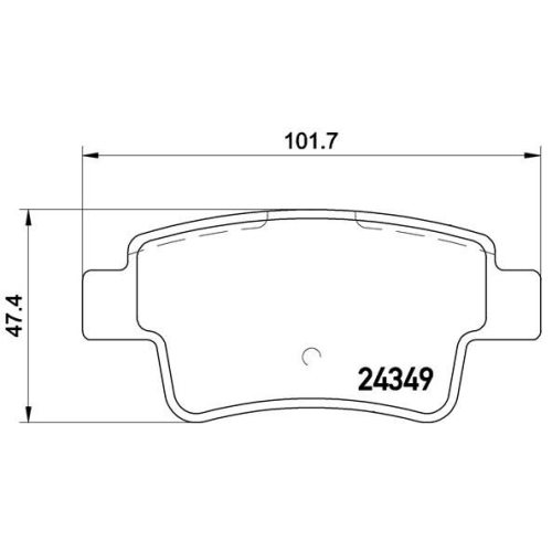 BREMBO Brake Pad Set, disc brake P 59 057