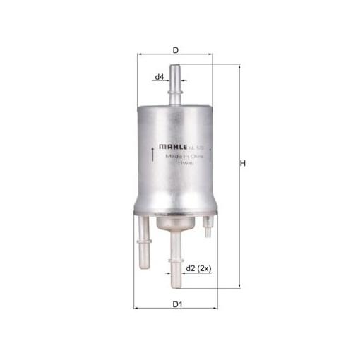 Kraftstofffilter MAHLE KL 572 AUDI VAG CUPRA