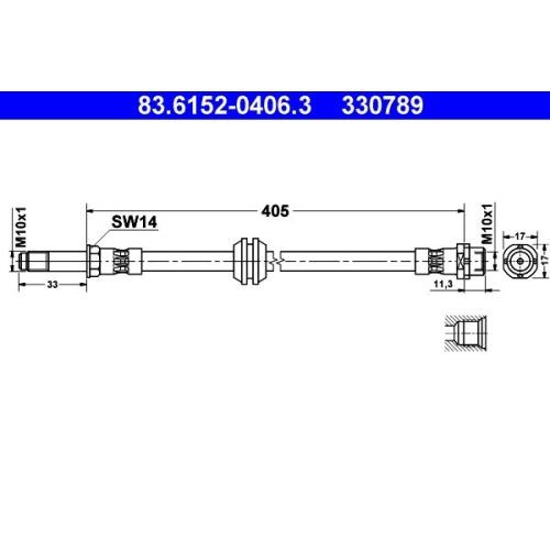 Bremsschlauch ATE 83.6152-0406.3 BMW