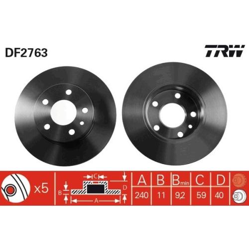 TRW Brake Disc DF2763