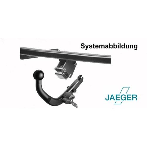 AHK-Kit, diagonal abnehmbar, inkl. 13poligem JAEGER E-Satz JAEGER 44060303
