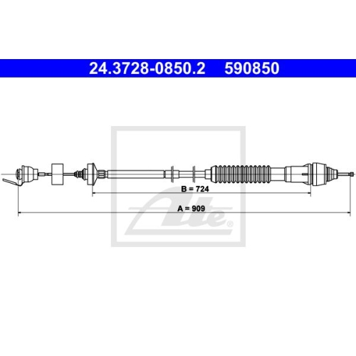 ATE Clutch Cable 24.3728-0850.2