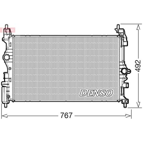 Kühler, Motorkühlung DENSO DRM20019 OPEL