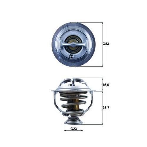Thermostat, coolant MAHLE TX 123 95D AUDI VAG CUPRA