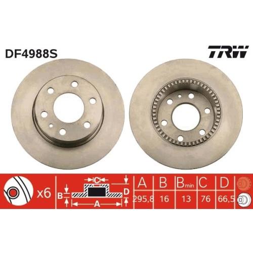 TRW Brake Disc DF4988S